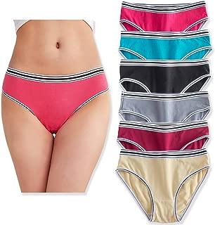 Womens Underwear Cotton Bikini Panties Comfort Hipster Briefs - Pack of 6/7