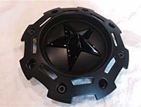 XD SERIES KMC 811 Rockstar 2 Matte Black w Black Star Center Cap SC-198 SC-190