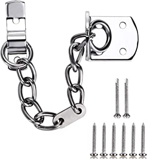 Skelang Door Chain, Front Door Limiter, Chain Door Guard Gate Chain Lock Narrow Design to Fit All Door Types or Sizes, Security Door Chain for Safer Caller Identification