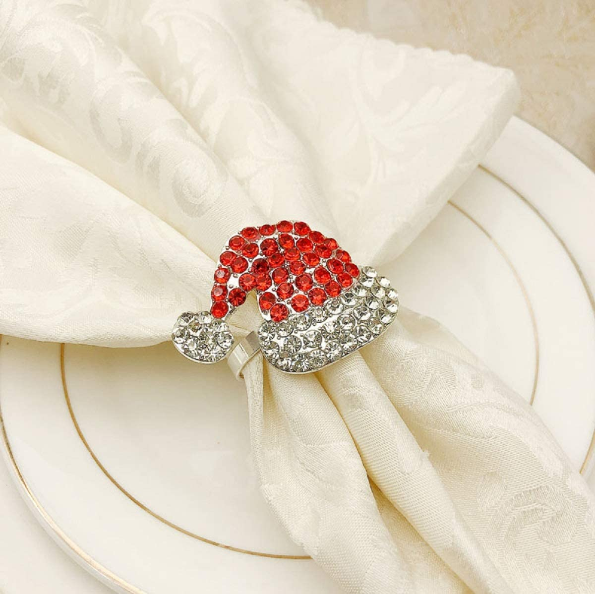 Industry No. 1 OFFer Allinlove Napkin Rings Set of Christmas Holde Cute 6 Hat