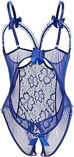 Tuopuda Lingerie Donna Sexy Pizzo Babydoll Trasparente Camicia da Notte Seno Nudo Lingerie Taglie Forti Halter Aprire La C...