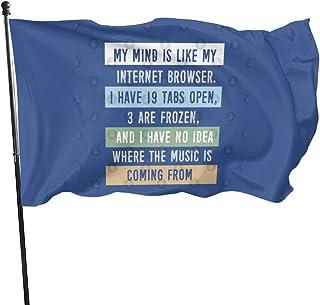 私の心はWebブラウザのようです. Banner 3 * 5feet Garden Flag