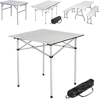 comprar comparacion TecTake Mesa Plegable de Aluminio portátil Camping terraza jardín Mesa Multifuncional - Varios Modelos -