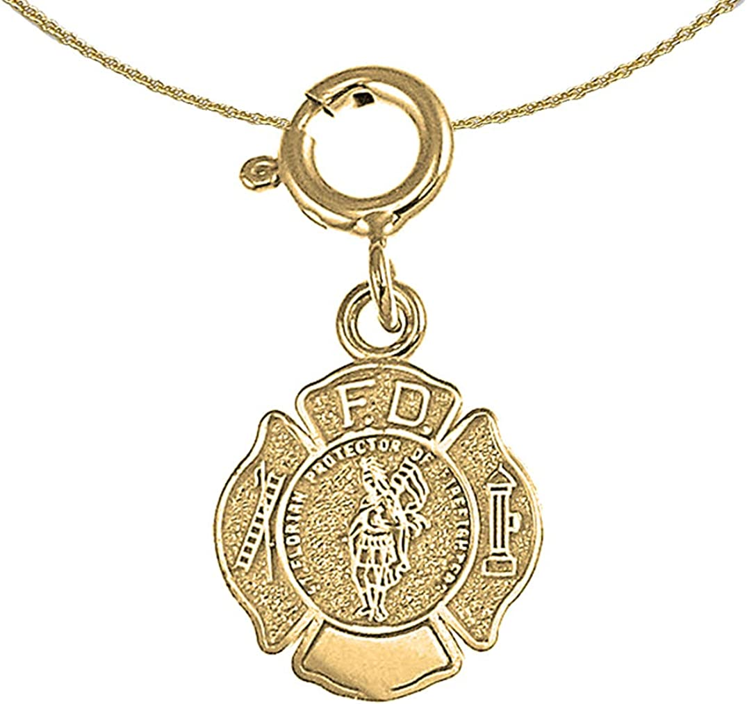 Jewels Obsession 14K Yellow Gold Under blast sales Department Gifts Fire Pendant 18 with