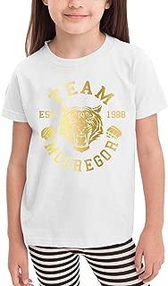 Toddler Print Design with Team McGregor Tiger Conor McGregor Comfortable T Shirts for Boys'&Girls' Short Sleeve White