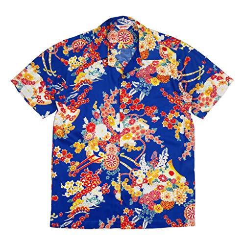 Sun Surf Leonardo DiCaprio's Hawaiian Shirt from Romeo and Juliet 1996 (Large) Blue