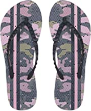 Showaflops Womens' Antimicrobial Shower & Water Sandals for Pool, Beach, Dorm and Gym - Aztec Pastel