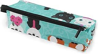 Glasses Case Fox Owl Panda Cat Bride Groom Multi-Function Zippered Pencil Box Makeup Cosmetic Bag for Women