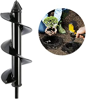 "Garden Planter Bulb Auger Drill Bit Garden Soil Cultivator Hand Drill Bit Plant Tools Umbrella Post Hole Digger for 3/8"" H..."