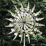 Bilbull Einzigartige und magische Metall-Windmühle, Solar-Windspiel, Outdoor, kinetische Bewegung mit Windskulpturen, Dekorationen für Garten, Hof, Terrasse, Rasenkunst