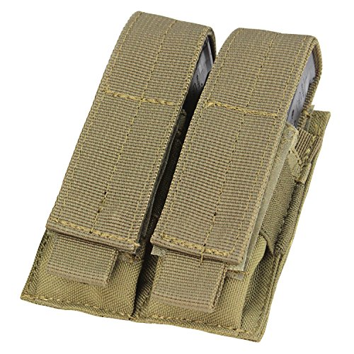 Condor Combat Tactical Double Pistol Mag Pouch MOLLE Webbing Airsoft Coyote Tan