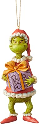 Amazon Com Enesco Dr Seuss The Grinch By Jim Shore Holding Cindy Hanging Ornament 4 92 Multicolor Home Kitchen