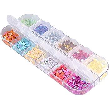 SUPVOX 12 Ranuras de Cristal Flatback Rhinestones en Forma de corazón Nail Art Beads Gemas Piedras para DIY Manualidades Maquillaje de Ojos Ropa Zapatos