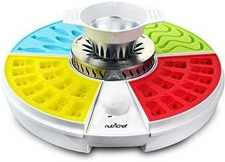 NutriChef Upgraded Gummy Maker Includes 4 Molds, Shaped Candy Reusable, Dishwasher Safe, Electric Plug, Perfect for Party Favors for Kids, Snacks, 110V AC (PKGCM14)