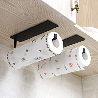 Paper Towel Holder Wall Mounted No Drilling, Paper Towel Holder Under Cabinet, Toilet Roll Holder Self Adhesive, Towel Tis...