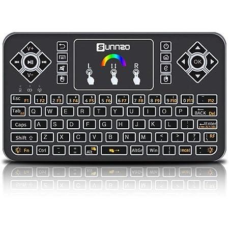 blackgik Q9 Mini Teclado Inalámbrico de Control Remoto con ...