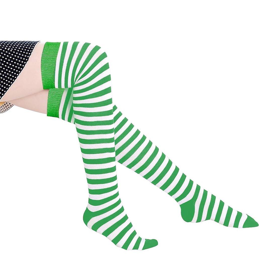 物質真空入植者Daimai クリスマスストッキング ハロウィンソックス ストライプソックス ロングチューブソックス 弾力性 オーバーニーソックス 1ペア ロングソックス ニーハイストッキング 子供用 コスプレコスチューム