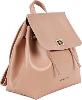 Laura Ashley Bucket Bag for Women - Leather, Beige
