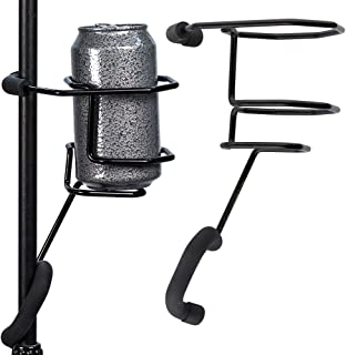 Mic Stand Drink Holder ? Microphone & Cymbal Pole Stagehand Music Mount for Soft Beverages Soda Can Coffee or Tea Cup ...