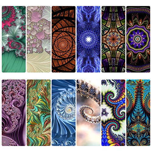 Livin Harmony || Amazing Fractal Bookmarks || Great Book Markers for Book Lovers Girls Boys Kids Teens Women Men and Everyone 12 or 60 || Made in The USA 12… 12