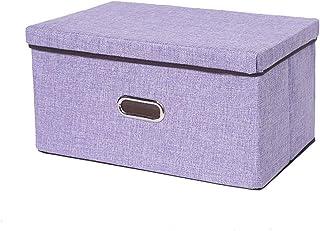 YShop Boîtes de Rangement, bacs de Rangement en Coton et Lin Pliables avec couvercles et poignée, Panier de Rangement for ...