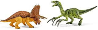 Schleich SC42217 Triceratops and Therizinosaurus Figurines