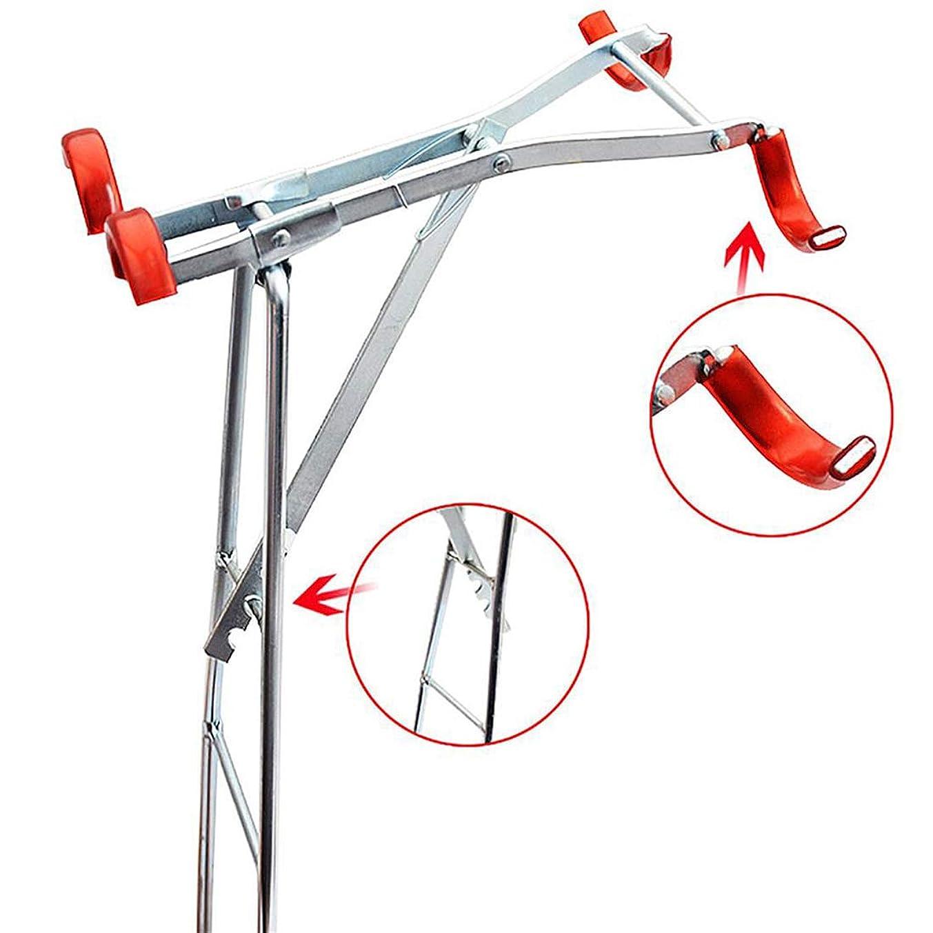 出発強い対話KLUMA 竿受け 竿置き 釣りロッドホルダー 安定 2本 回転防止 位置調節可能 折り畳み コンパクト 携帯