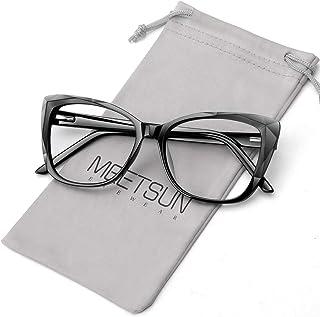 MEETSUN Large Blue Light Blocking Glasses for Women Anti Eyestrain Filter Blue Ray Computer Game Glasse&UV/Reduce Glare