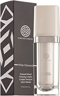Forever Flawless Best Facial Cleanser with 100% White Diamond Infused Powder, Antioxidants, Vitamin A and E For Oily, Dry & Sensitive Skin, Anti-Aging, Anti Wrinkle. Men and Women FF13, (2.03 fl oz)