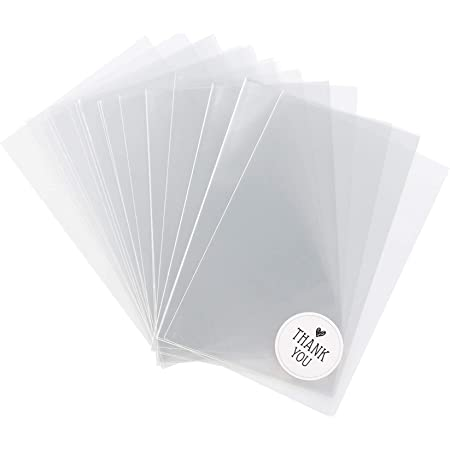 ilauke 200pcs 10 * 15cm Sac Plastique Tansparent OPP Pochette Sachet d'emballage Cellophane Biscuit Bonbons Perles Bijoux Cadeau