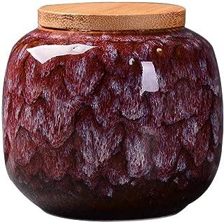 jessie Loose Tea Tin Tea Storage Tea Caddy Tea Canister Tea Storage Container Tins Jar with Airtight Lid (Red)
