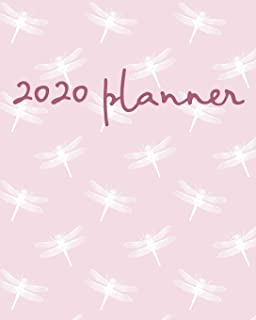 2020 Planner: Weekly Basic Large Planner : 52 Week Agenda : Extra Dot Grid Pages: Paperback Cover : Pink Dragonfly