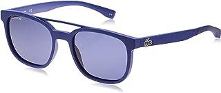 Lacoste Rectangular Sport Inspired Matte Sunglasses