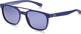 Lacoste Men's L883s L883S-414 Rectangular Sunglasses, MATTE NAVY BLUE, 53.83 mm