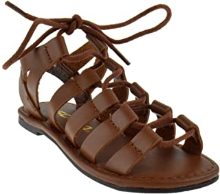390930a8f5ee Sod Corbic 2 Little Girls Strappy Lace Up Peep Toe Gladiator Sandals