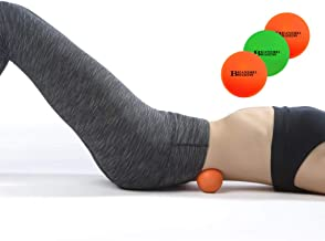 Branded Boards, Massage lacrosse balls set, Massage Lacrosse Balls for Myofascial Release, Sciatic, Plantar Fasciitis Therapy, Trigger Points, Muscle Knots and Yoga Massage. (1 Green & 2 Orange Balls)