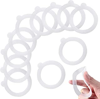12 Pieces Replacement Silicone Gasket Seals for Jars, Leakproof Airtight Silicone Gasket Sealing Rings, 3.75 x 3.75 Inches, for Glass Clip Top Jars 0.35/0.5/1/ 1.5/2 Liter Canning Jars (Clear)