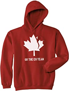 Eh Team Canada Sweater Funny Canadian Shirts Novelty Sweaters Hilarious Hoodie