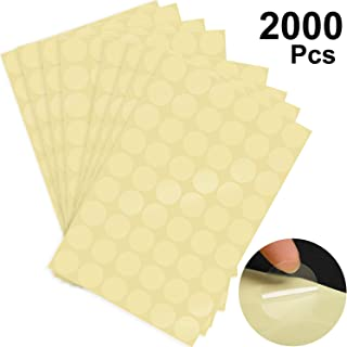 2000 Pieces 25 mm Clear Retail Package Round Clear Seal Labels Clear Adhesive Stickers Round Envelope Stickers, Transparent (Style A)