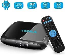 $49 Get Android TV Box, YAGALA V3 Android 9.0 TV Box with RK3318 Quad Core 4GB RAM 32GB ROM Dual WiFi 2.4G/5G LAN Ethernet UHD 4K HDMI USB3.0