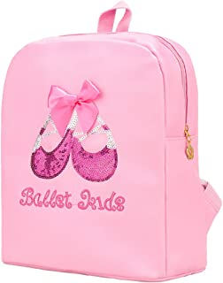 Barwa Toddler Backpack Ballet Bag Lance Dance Ballerina Shoulder Bag for Girls