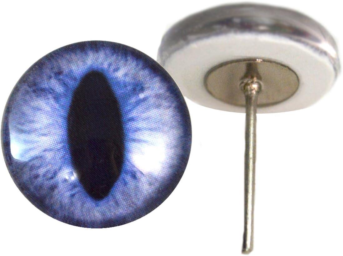 Dragon eyes Blue eyes Glass craft eyes Doll eyes 10mm Glass cat eyes