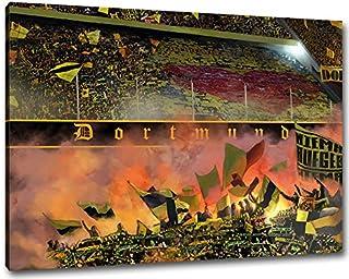Ultras-Art Herz von Dortmund Format: 120x80, Bild auf Leinwa