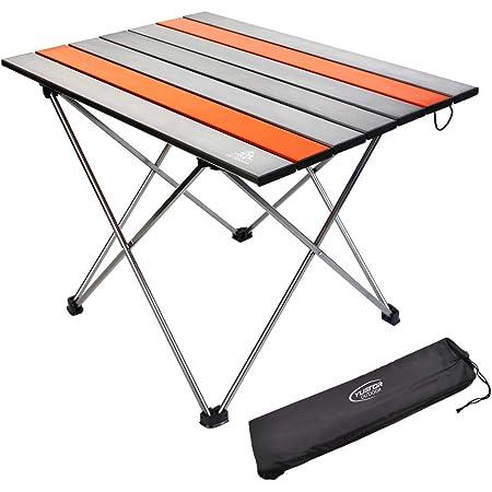 G4Free Tavolo da Campeggio Portatile Leggero Tavolo Pieghevole in Alluminio Tavoli Avvolgibili Compatti con Borsa per Il Trasporto per Escursionismo da Campeggio allaperto Zaino da Picnic