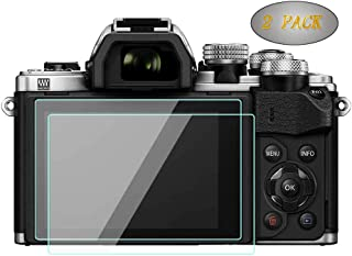 EM10 Mrak iii Glass Screen Protector Compatible for Olympus OM-D E-M10 Mark III II /E-M5 Mark II /E-PL9 E-PL8 E-PL7, WH1916 9H Tempered Glass Touch Film Bubble-Free Anti-Scratch Anti-Finger (2 Pack)