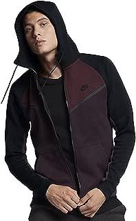 NIKE Sportswear Tech Fleece Full Zip Windrunner Jacket (X-Large, Port Wine/Black-Black)