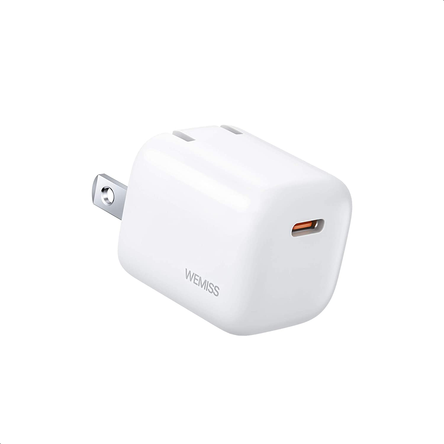 USB C Charger, 20W Mini iPhone 12 Charger, Type C Fast Charger with Foldable Plugs, Ultra-Compact iPhone Charger, USB C Wall Charger for iPhone 12/12 Pro/12 Pro Max, iPad MagSafe (1 Pack)