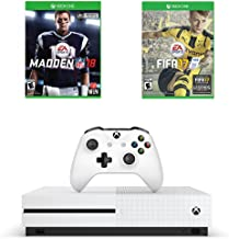 Microsoft Xbox One S Sports Game Bundle : Microsoft Xbox One S 500 GB - Robot White, Madden NFL 18 and FIFA 17