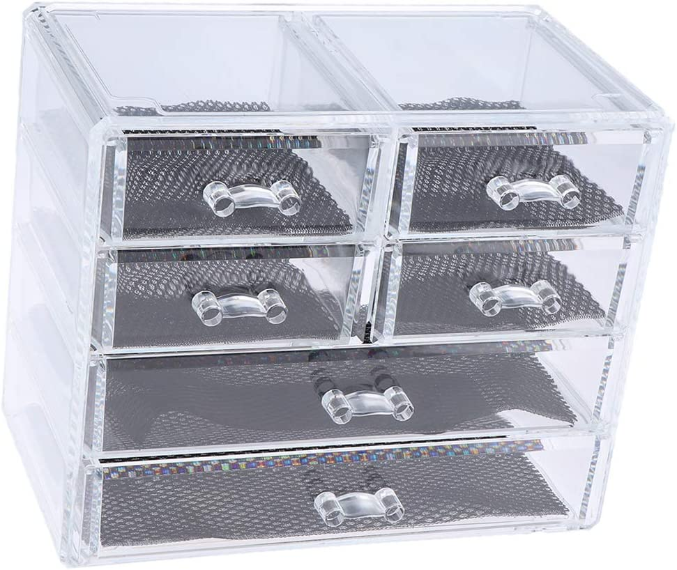 N\C Large Acrylic Makeup Max 70% OFF Ranking TOP20 and Storage Jewelry Display Case Space