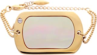 اسوارة نسائية من الستانلس ستيل المطلي باللون الذهبي من ميساكي - QCUBBLONDIE